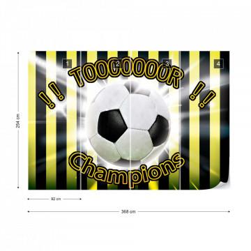 Football Yellow And Black Champions Photo Wallpaper Wall Mural
