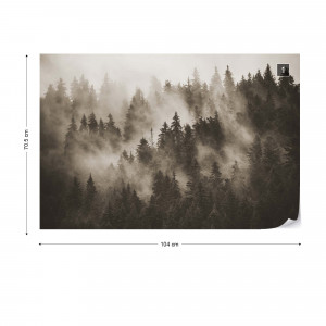 Forest in the Mist in Sepia
