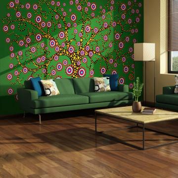 Fototapet - abstract: tree (green)