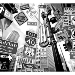 Fototapet - All roads lead to Manhattan