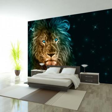 Fototapet autoadeziv - Abstract lion...