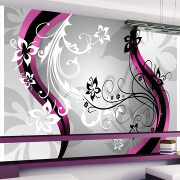 Fototapet autoadeziv - Art-flowers (pink)
