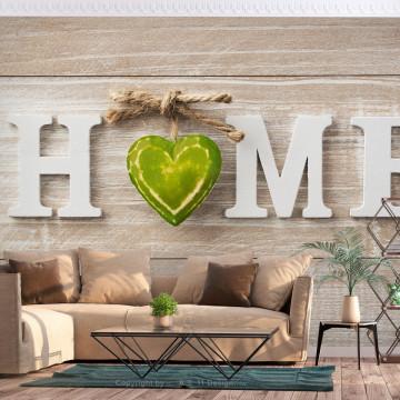 Fototapet autoadeziv - Home Heart (Green)