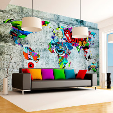 Fototapet autoadeziv - Map - Graffiti
