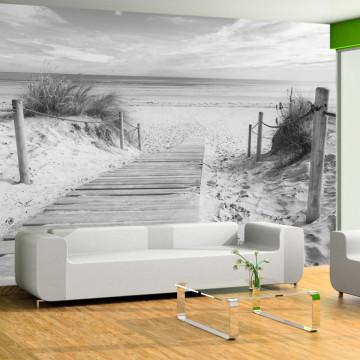 Fototapet autoadeziv - On the beach - black and white