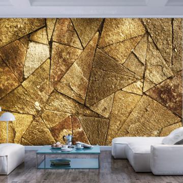 Fototapet autoadeziv - Pavement Tiles (Golden)