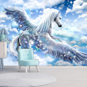 Fototapet autoadeziv - Pegasus (Blue)