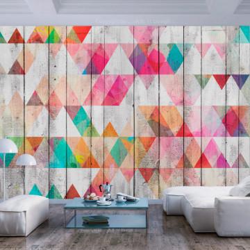 Fototapet autoadeziv - Rainbow Triangles