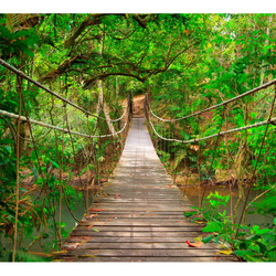 Fototapet - Bridge amid greenery