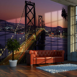 Fototapet - Charming evening in San Francisco