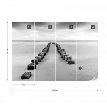 Fototapet - Mare de Liniște – Alb-Negru