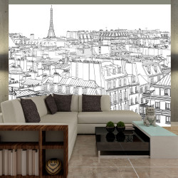 Fototapet - Parisian's sketchbook