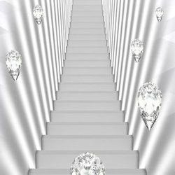 Fototapet pentru ușă - Photo wallpaper - White stairs and jewels I