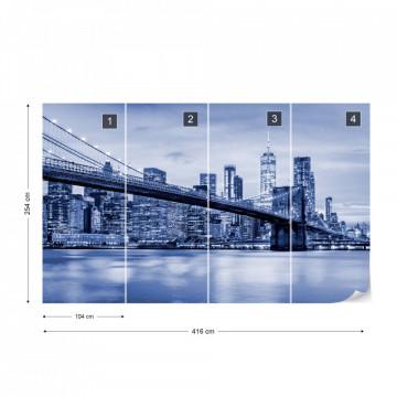 Fototapet - Podul Brooklyn NYC – Albastru