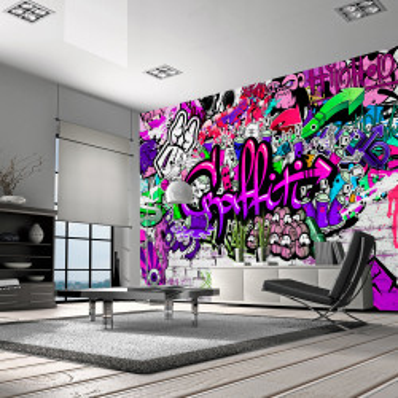 Fototapet - Purple Graffiti