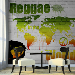 Fototapet - Reggae in the world