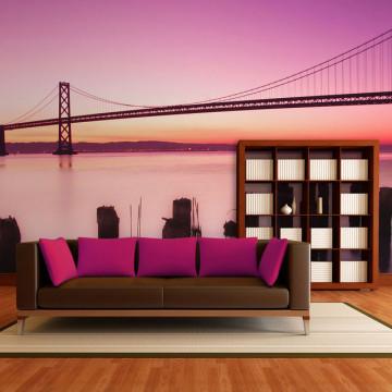 Fototapet - San Francisco Bay in violet, California