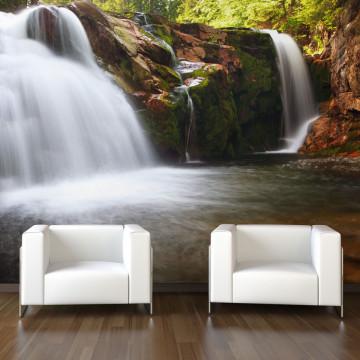 Fototapet - Small Elbe waterfall
