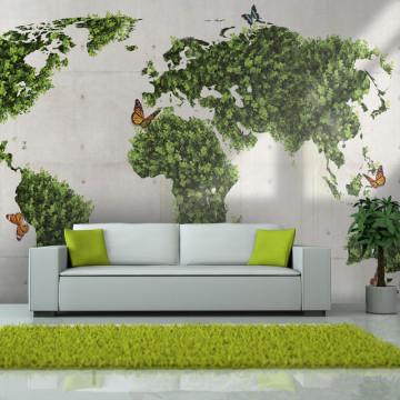 Fototapet - The butterfly garden