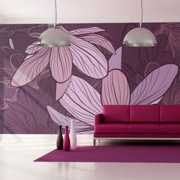 Fototapet - Violet magnolias