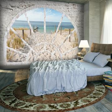Fototapet - Window View - Beach