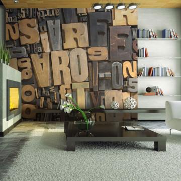 Fototapet - Wooden letters