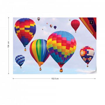 Hot Air Baloons Colours Photo Wallpaper Wall Mural
