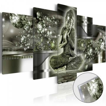 Imagine pe sticlă acrilică - Emerald Buddha [Glass]