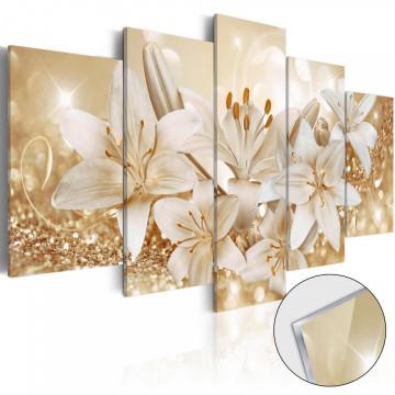 Imagine pe sticlă acrilică - Golden Bouquet [Glass]