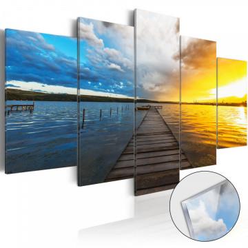 Imagine pe sticlă acrilică - Lake of Dreams [Glass]