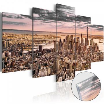 Imagine pe sticlă acrilică - New York City: Morning Sky [Glass]