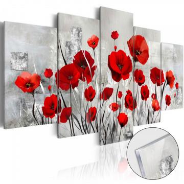 Imagine pe sticlă acrilică - Scarlet Cloud [Glass]