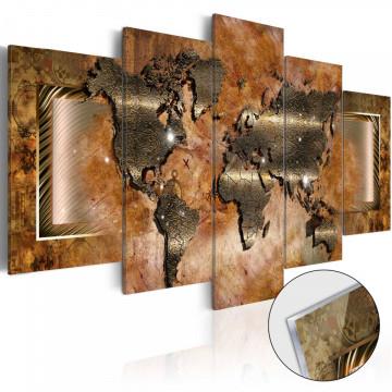 Imagine pe sticlă acrilică - Steel Map [Glass]