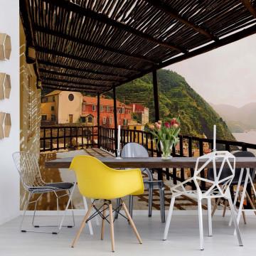 Italian Lake Terrace View Photo Wallpaper Wall Mural