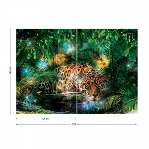 Leopard In The Jungle Photo Wallpaper Wall Mural
