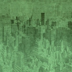 New York City Grunge I Green