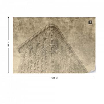 New York City Grunge II Sepia