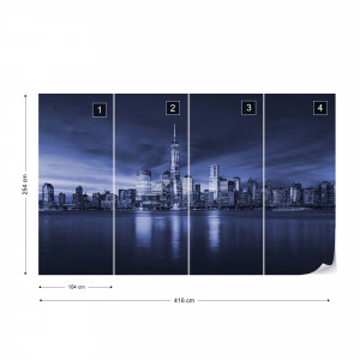 New York City Sunrise in Blue
