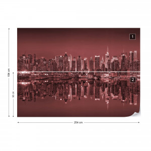 New York Reflections in Red