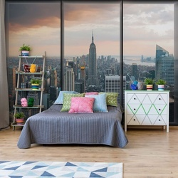 New York Skyline Window View Photo Wallpaper Wall Mural