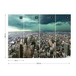 New York Under Storm Photo Wallpaper Mural