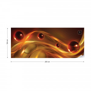 Orange Red Yellow Modern Abstract Design Photo Wallpaper Wall Mural