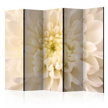 Paravan - White dahlia II [Room Dividers]