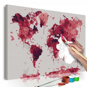 Pictatul pentru recreere - Watercolor Map