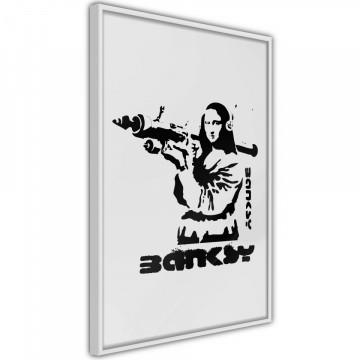 Poster - Banksy: Mona Lisa with Bazooka I