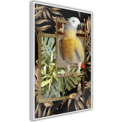 Poster - Composition with Gold Parrot