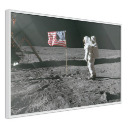 Poster - Flag on the Moon