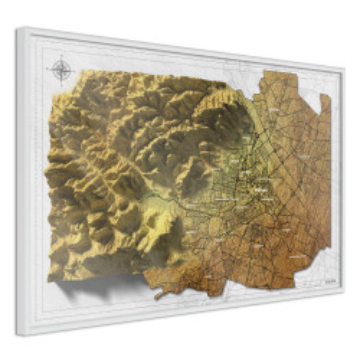 Poster - Raised Relief Map: Vienna