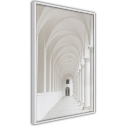 Poster - White Colonnade