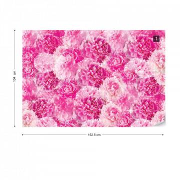 Pretty Pink Flowers Photo Wallpaper Wall Mural